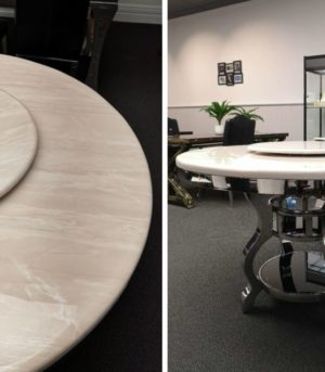 White round marble table 2